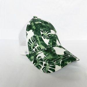 Split leaf Philodendron hat
